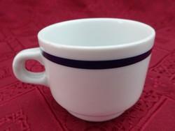 Alföldi porcelán kék csíkos kávéscsésze, átmérője 6,4 cm.