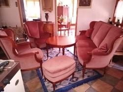 Warrings Salsburg cseresznye barok 5 darabos ülőgarnitura