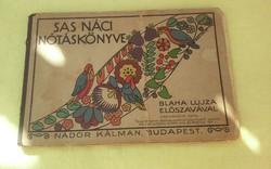 Nótáskönyv Blaha Lujza ajánlásával