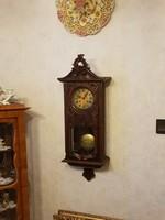 Antik gyönyörű Bécsi barokk falióra!