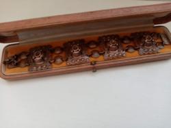 Régi egyedi bronz iparművészeti karkötő karlánc