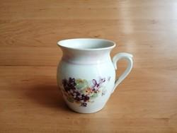 Cseh porcelán hasas ibolya mintás bögre 10,5 cm (9/d)