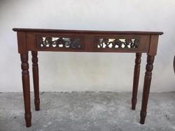 Konzol asztal,Tükrös faragott fiókokkal