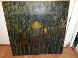 Kortas festmény olaj vászon, Sóstói művésztelep,