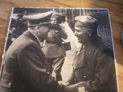 Hkb sajtófotó Hitler Mussolinivel gyűjteményből gyüjteménybe eredeti fotó ritkaság ajándékozhatóan