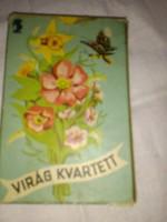 RETRO VIRÁG KVARTETT kártyajáték