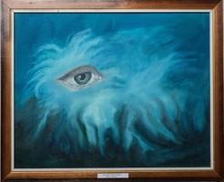 Olajfestmény, kasírozott vászon 40 x 50 cm