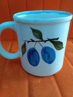 NAGY teás csésze bögre csésze szilva dekor