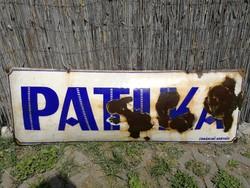 Patika, óriás tománc tábla, email. Tűzzománc, régi.