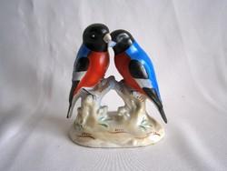 Különleges és nagyon ritka jelzett, sorszámozott porcelán papagájok, papagájpár