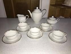 Bavaria klasszikus kávés / teás szett készlet fehér arany