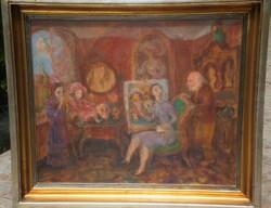 Szabó Vladimir (1905-1991) : Lecke festésből