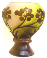Emile Gallé Váza 9,5 cm Francia Szecesszió