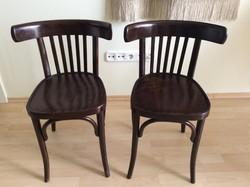 Hajlított támlás Thonet székek