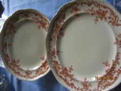 Antik Cauldon fajansz tányér 2 db