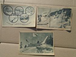 1936-os Téli olimpia képeslapok . 3 db