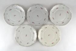 1A473 Hollóházi porcelán süteményes tányér készlet