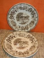 Angol porcelán jelenetes tányérok.