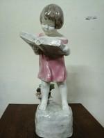 "Goldscheider figura  "" Olvasó kislány"". RITKA!"