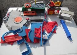 Retro matchbox autópálya alkatrészek elemek