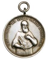 Búcsújáró medál Szalézi Szent Ferenc Zanberg 1880 körül