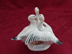 ROYAL dux bavaria német porcelán figurális szobor, lúd trió.