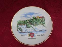 Svájci porcelán falitányér, átmérője 17 cm.