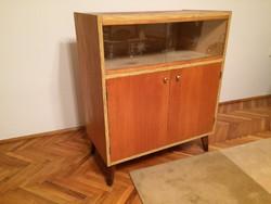 Retro régi vitrines szekrény mid century komód tv állvány