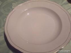 Aranyszegélyes   33cm dombormintás   hatalmas kínálos tányér