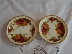 """ROYAL ALBERT """" Old Country Roses """" Angol porcelán rózsás tányér , kínáló , gyűrűtartó"""