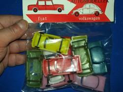 Retro trafikáru bazáráru műanyag játék autócsomag sok kisautóval bontatlan a képek szerint 2