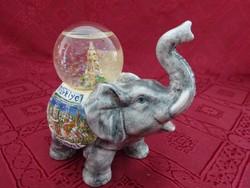 Kézzel festett török porcelán elefánt, hossza 10 cm, magassága 10 cm.