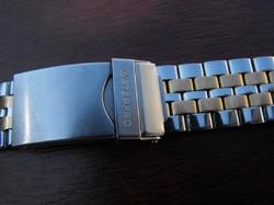 Vintage acél búvárszíj (búvárhosszabbítós) 18mm-es órákhoz!