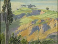 Európai festő, XX. század : Toszkán táj