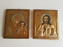 Antik orosz ikon 2 darab