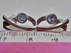 Szépséges kézműves ezüst fülbevaló valódi akvamarinnal