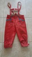 Tiroli gyerek bőrnadrág, piros 128
