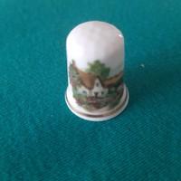 Angol porcelán gyűszű