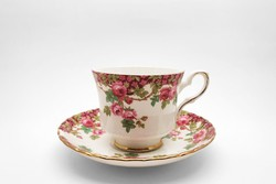 Royal Stafford angol porcelán csésze alátét tányérral