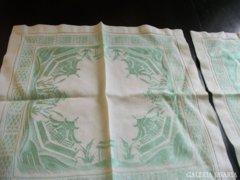 2 db Pagoda mintás,azsúros selyemdamaszt terítő 36 x 36 cm