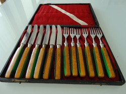 Art deco Solingen evőeszköz készlet eredeti dobozában