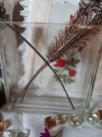 Nagyon vastag,jelzett,és nehéz üveg váza,-edény