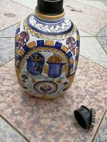Habán jellegű butella, butélia, fedeles bálnkás butykos!! Címeres, vírágos, szép dekoráció lehet!