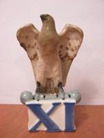 Royal Dux porcelán sas madár