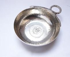 Mexikói ezüst borkóstoló érmés tálka, Tane Orfebres.