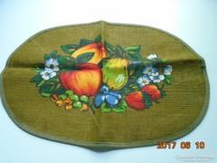 W.Germany Festett juta terítő gyümölcs minta 42x29 cm