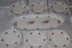Zsolnay barackvirág mintás süteményes