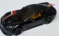Matchbox Chevrolet Corvette ZR1, 2008 fekete eredeti Mattel termék újszerű állapotban.