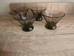 Art deco barna likőrös poharak