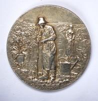 Francia ezüst kertészeti emlékérem.